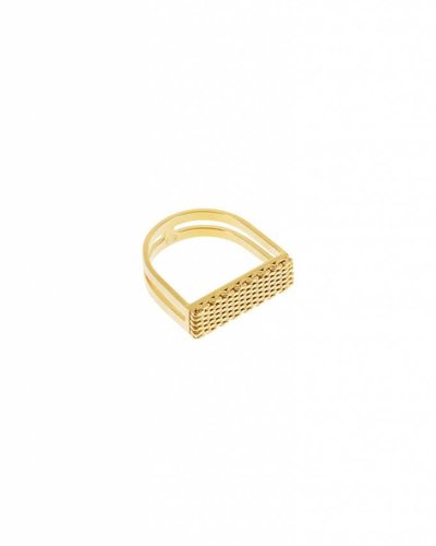 Studio Collect Textured u shaped ring