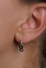Ola Minimal Tube Earring 2 Black