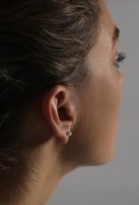Ola Minimal Tube Earring 1 Silver