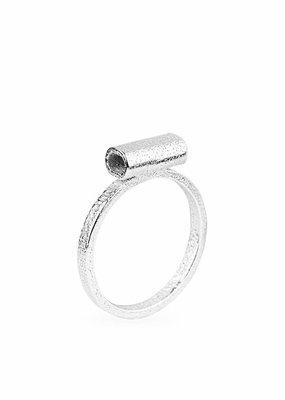 Ola Minimal Tube Ring Silver