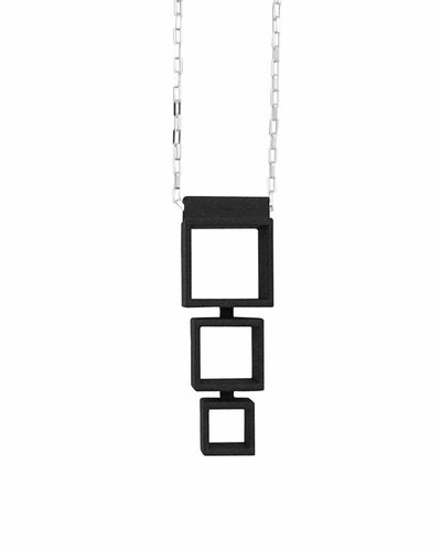 Ola Cube necklace multiple long black