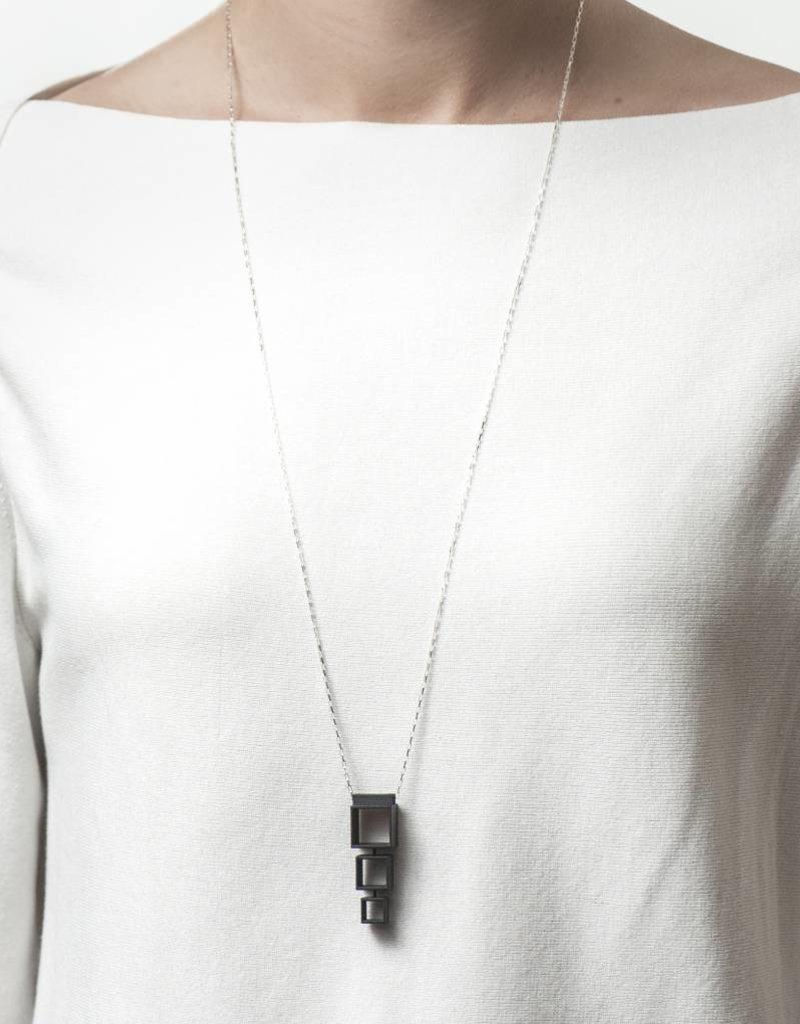 Ola Cube necklace multiple long black