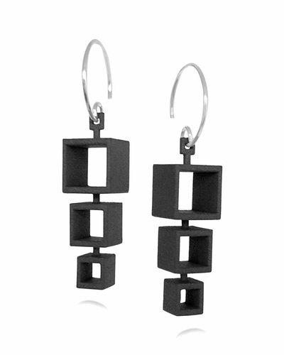 Ola Cube Earring 3 Black