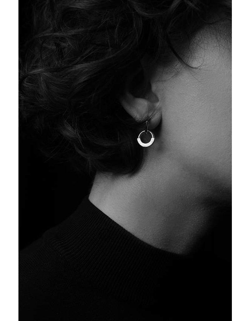 Ola Oorbellen hangers Contrast Earring I Olive
