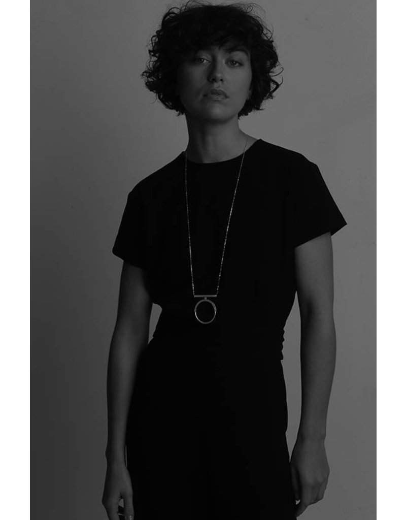 Ola Necklace Long Contrast I Silver