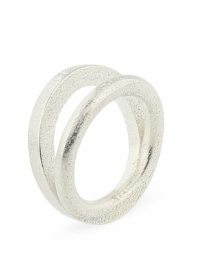 Ola Ring Contrast I Zilver