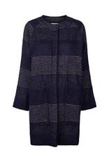 Lollys Laundry Fringe Jacquard Jacket - Dark Navy