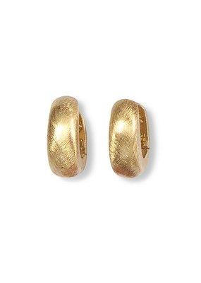 Heide Heinzendorff Creoles Laura silver gold plated matt