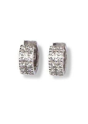 Heide Heinzendorff Creoles Dita silver crystal