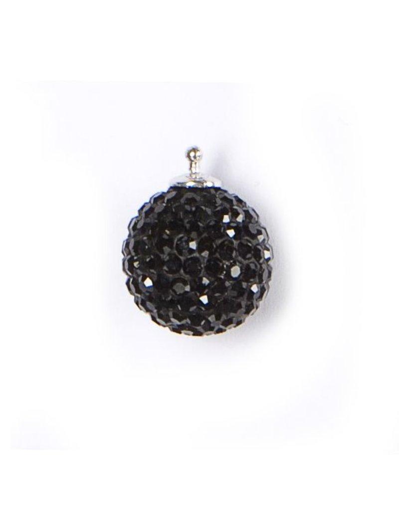 Heide Heinzendorff Earrings Change pendant crystal ball gold / black crystal