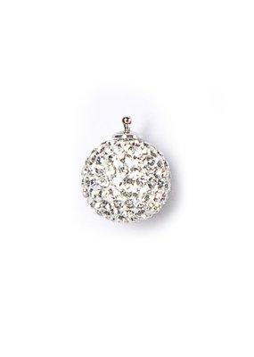 Heide Heinzendorff Wisselhanger kristal bol zilver/wit