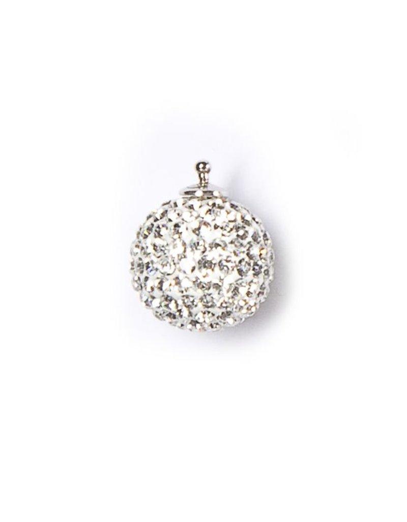 Heide Heinzendorff Changeable hanger crystal ball silver/white