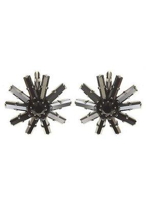 Konplott Earring eurowire Spider Daisy black