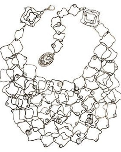 Konplott Necklace From Joanna with Love white crystal antique