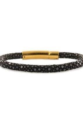 Barong Barong Armband Rogge smal Zwart