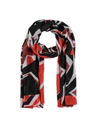 Sjaal met bruine/zwarte/oranje motieven