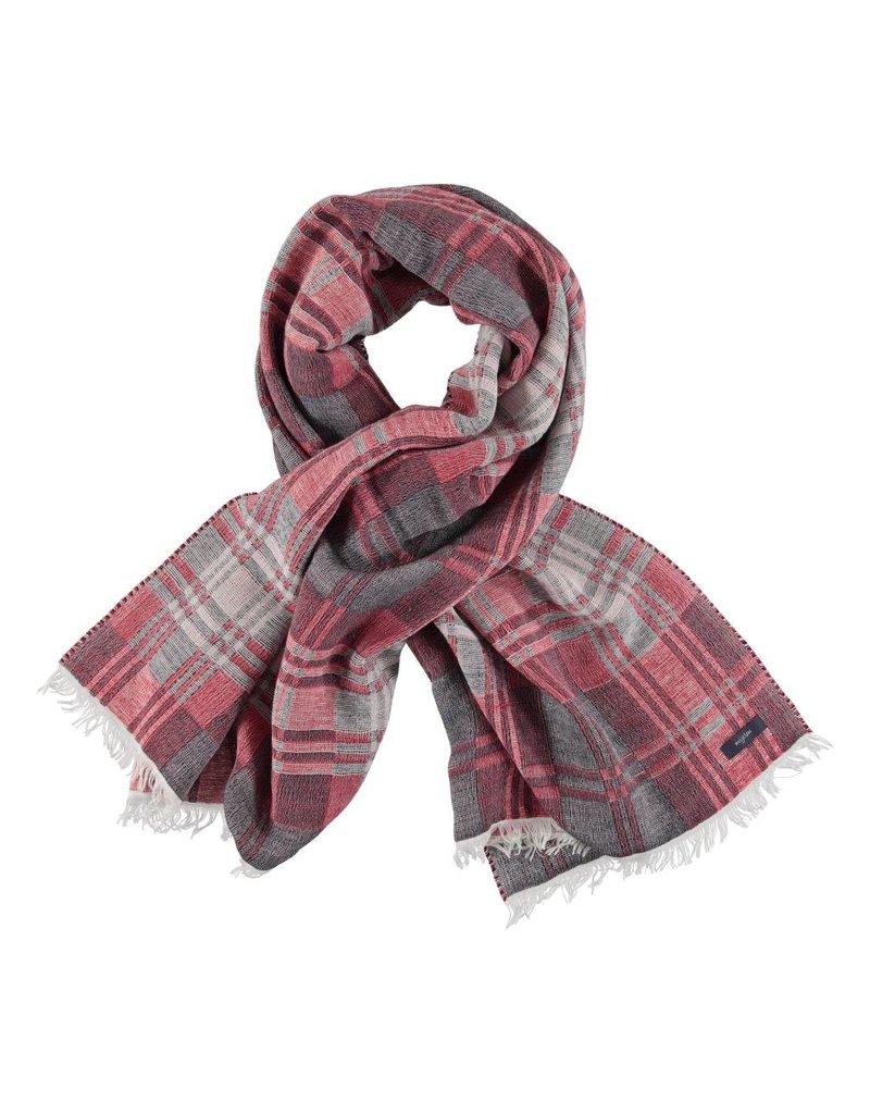 Sjaal rood/blauw/wit geruit