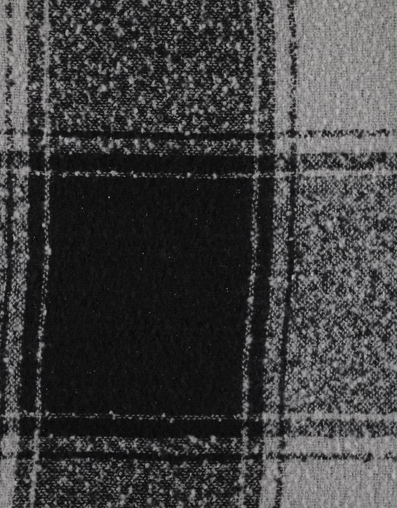 Cape dikke zachte stof zwart en grijs motief