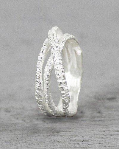 Jéh Jewels Ring met 3 ringen zilver
