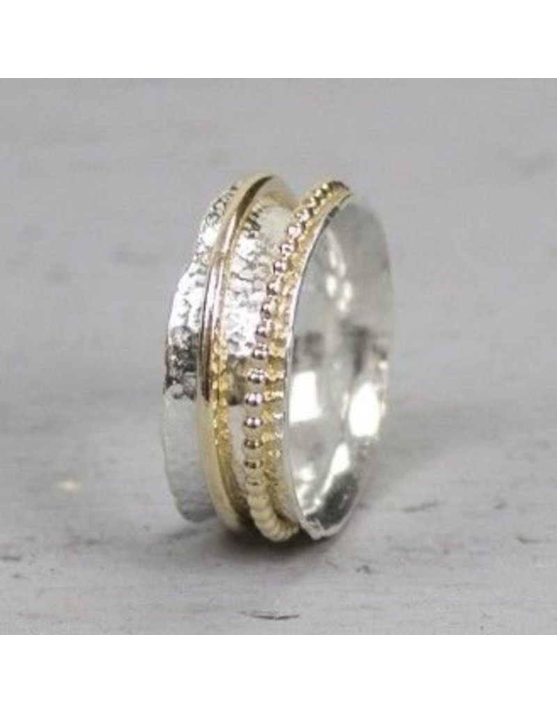 Jéh Jewels Ring silve gold wide with two loose rings