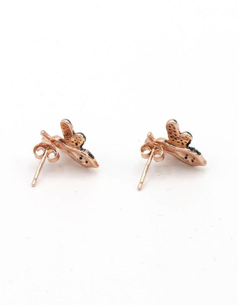 Earrings Fly Black/Rose Gold