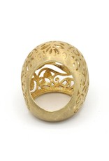 Ring big open sphere gold