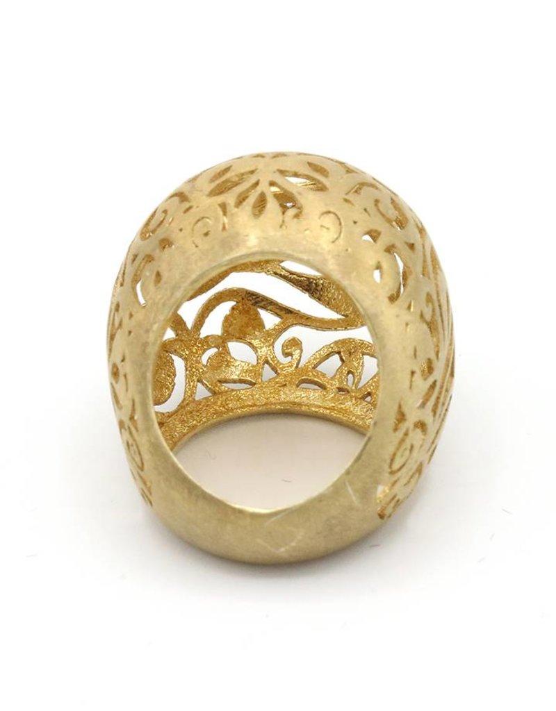 Ring grote open bol goud
