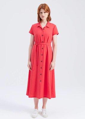 Zenggi JAPANESE CREPE JEANNE DRESS POPPY