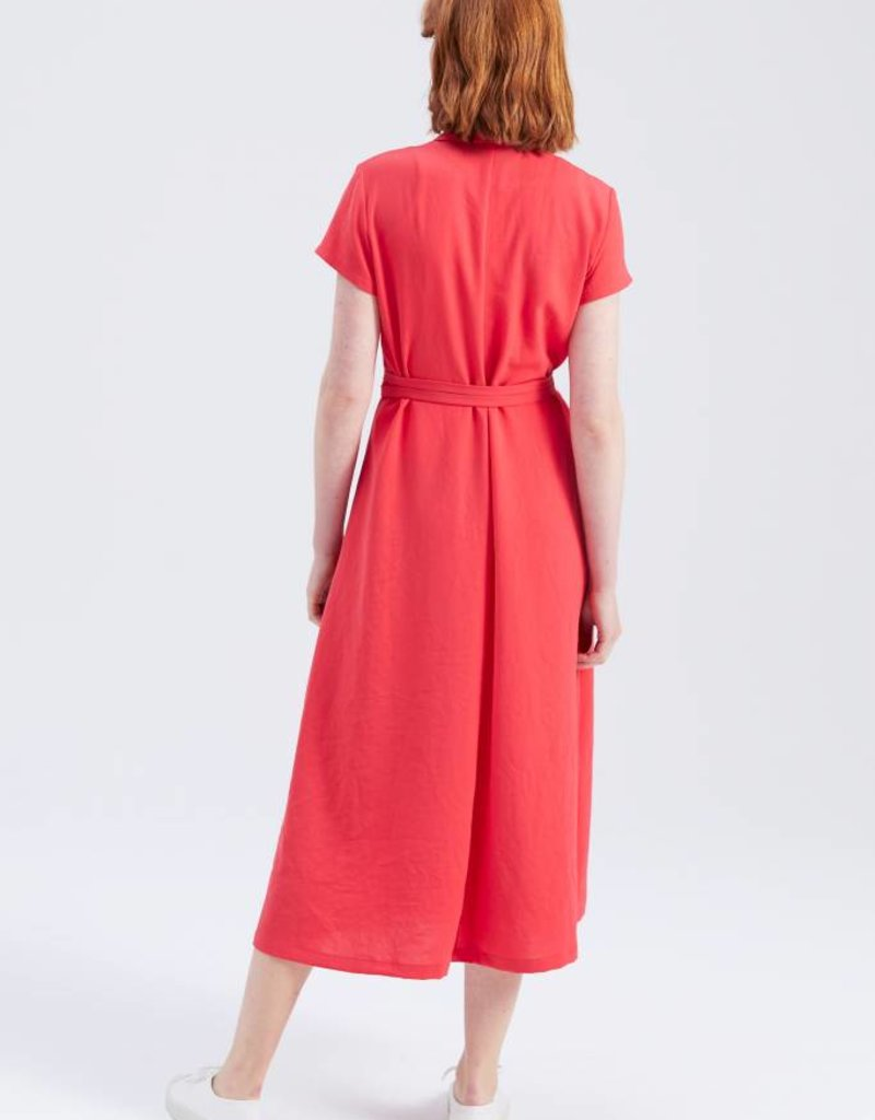 Zenggi JAPANESE CREPE JEANNE DRESS POPPY