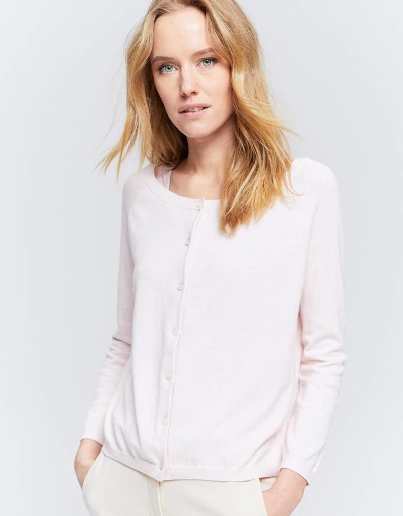 Zenggi FINE COTTON CASHMERE CARDIGAN BLUSH