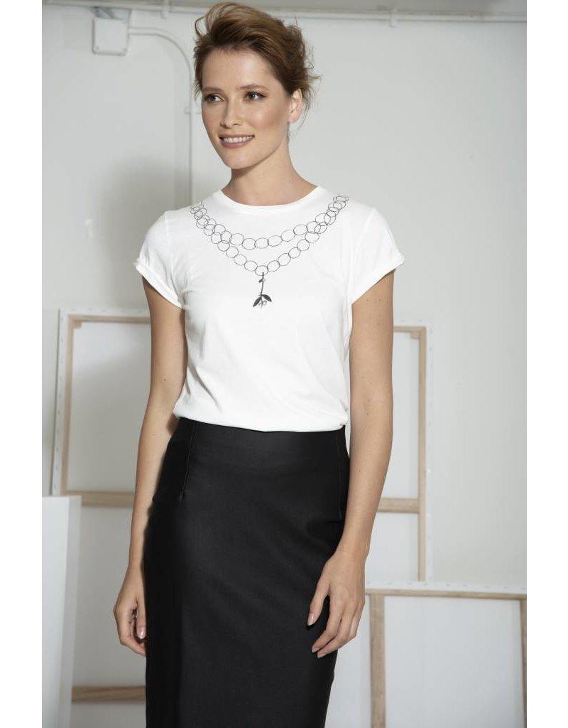Jacki Collet T-Shirt Ode kort collier
