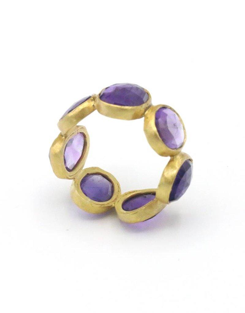 Adore Ring rondom stenen Amethyst Paars