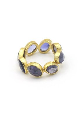 Adore Ring with gemstones iolite light blue