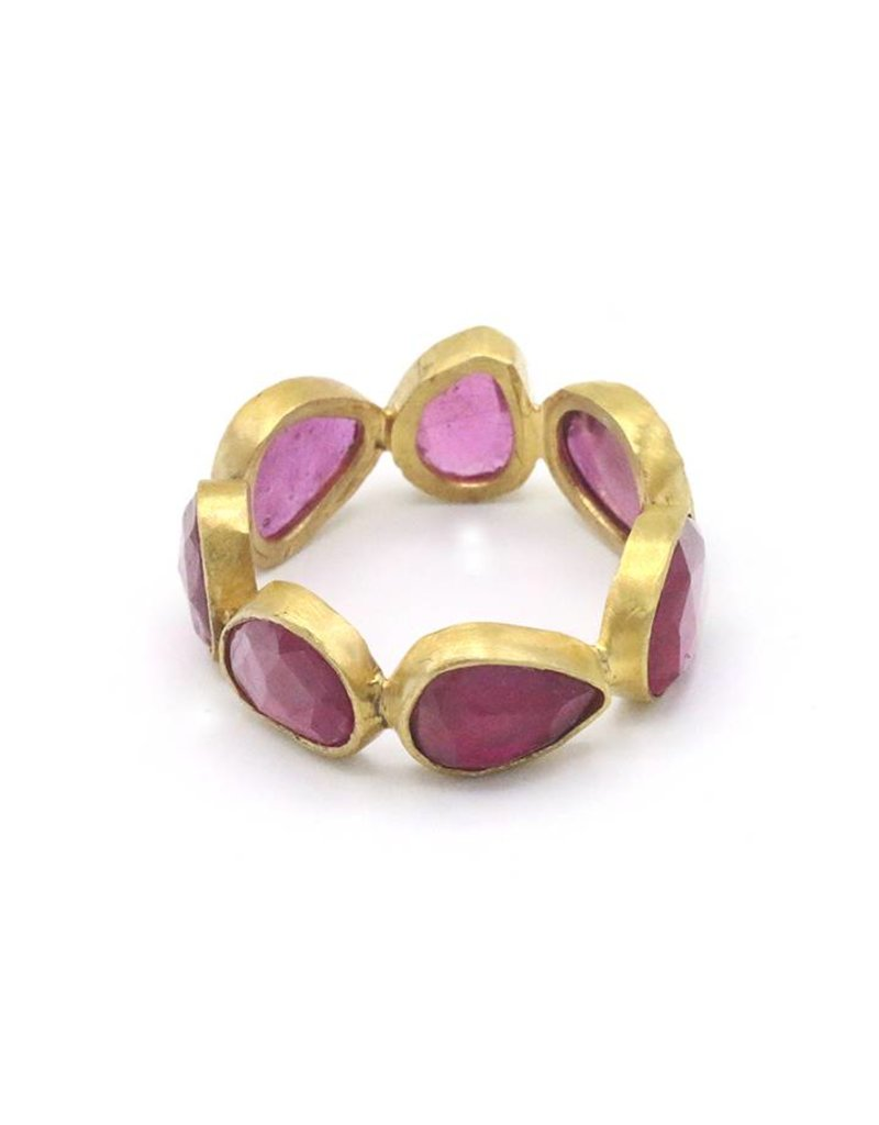 Adore Ring rondom stenen Ruby Rood