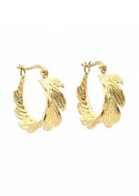 Barong Barong Oorbellen ring blaadjes goud