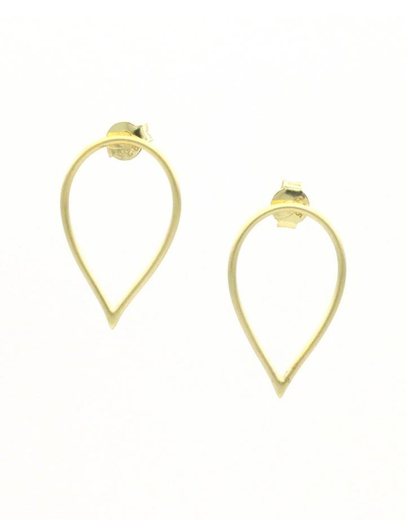 Earrings gold plated silver drop