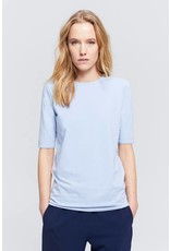 Zenggi STRETCH JERSEY ROUND NECK TEE ETON BLUE
