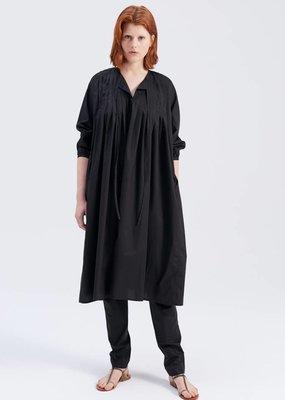 Zenggi POPLIN PLEATED DAVI DRESS BLACK