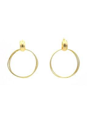 Replica Oorbellen Stekers creool met verschillende gouden ringen