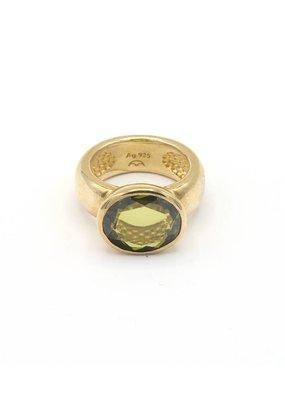 Heide Heinzendorff Ring with green crystal