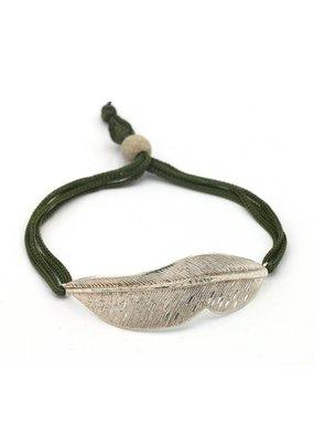 Tina Kotsoni Armband veertje met koord
