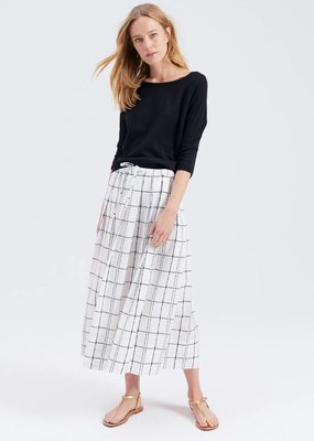 Zenggi PAINTED CHECK ABBY SKIRT WHITE