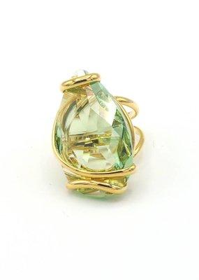 Andrea Marazzini Ring goud big drop peridot