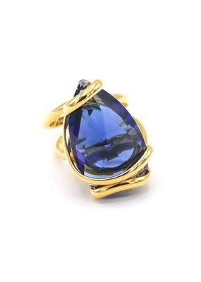 Andrea Marazzini Ring drop dark blue