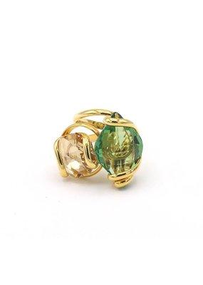 Andrea Marazzini Ring goud lemon erinite