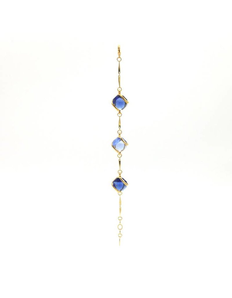 Andrea Marazzini Armband goud octagon mix Blue
