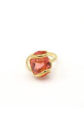 Andrea Marazzini Ring goud ovale orange