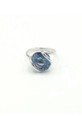 Andrea Marazzini Ring zilver mini denim blue sw