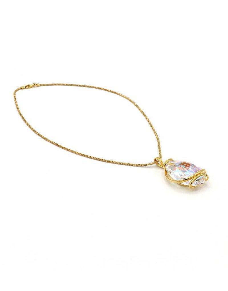 Andrea Marazzini Necklace gold big drop ab