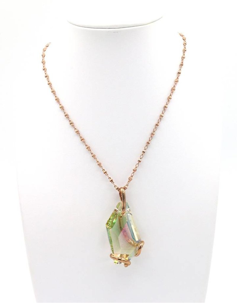 Andrea Marazzini Necklace rose gold big de art luminous green